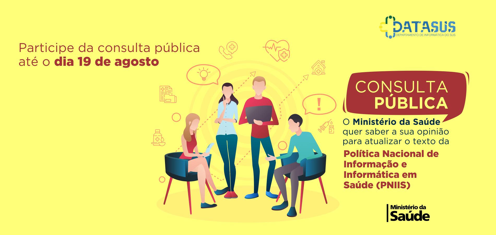 DATASUS lança consulta pública para a PNIIS
