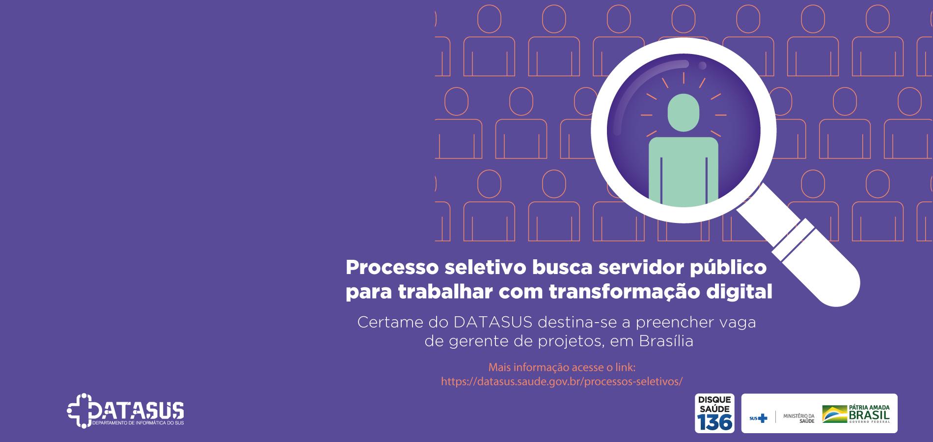 Processo seletivo busca servidor público para trabalhar com transformação digital