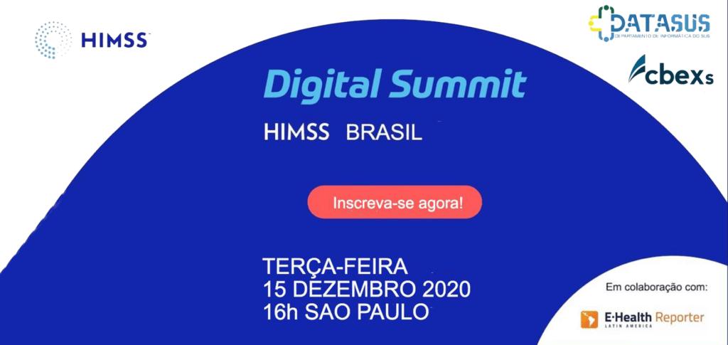 Banner HIMSS Brasil Digital Summit: Estratégias para a Saúde Digital