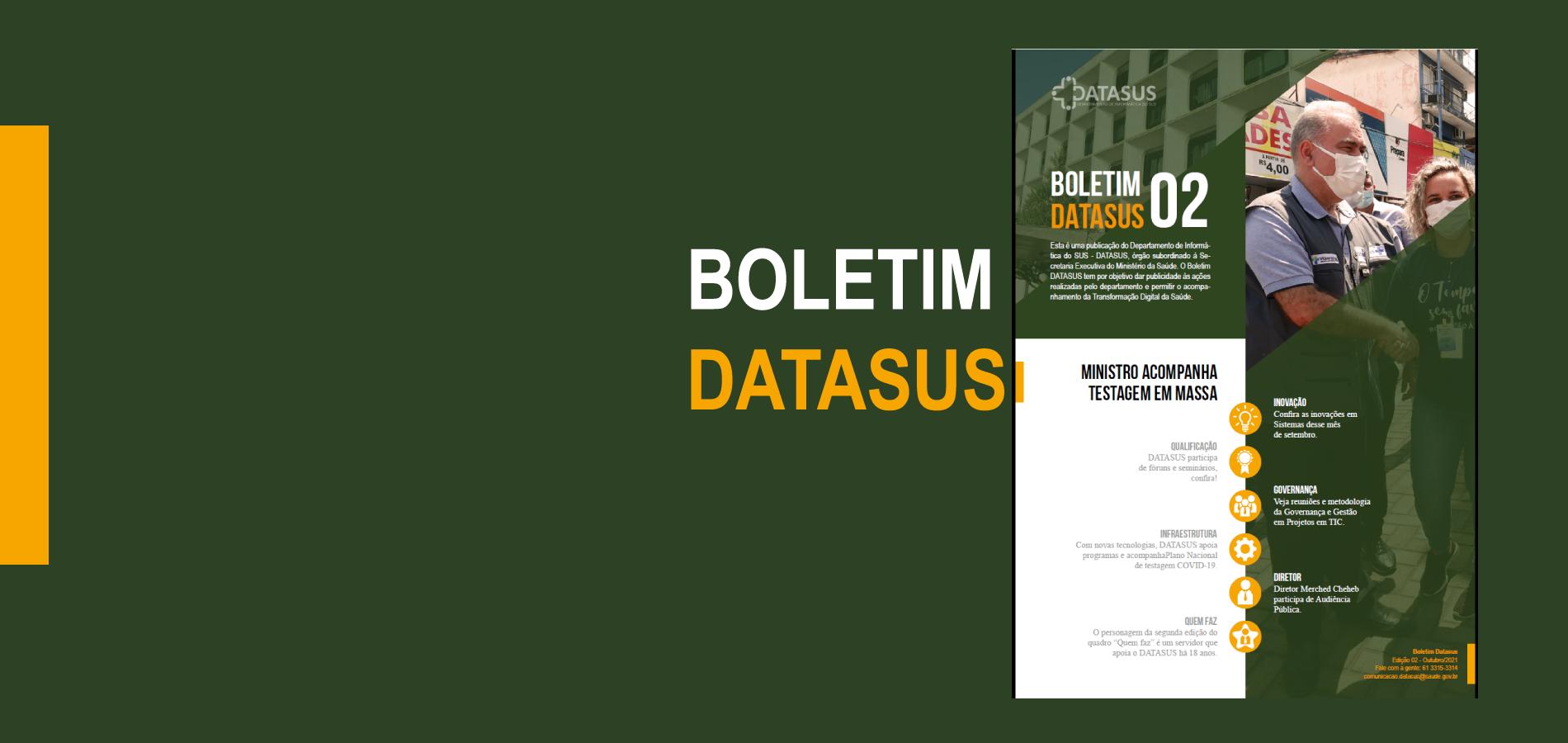 DATASUS publica 2ª edição do seu boletim mensal